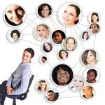 red social grupo de personas