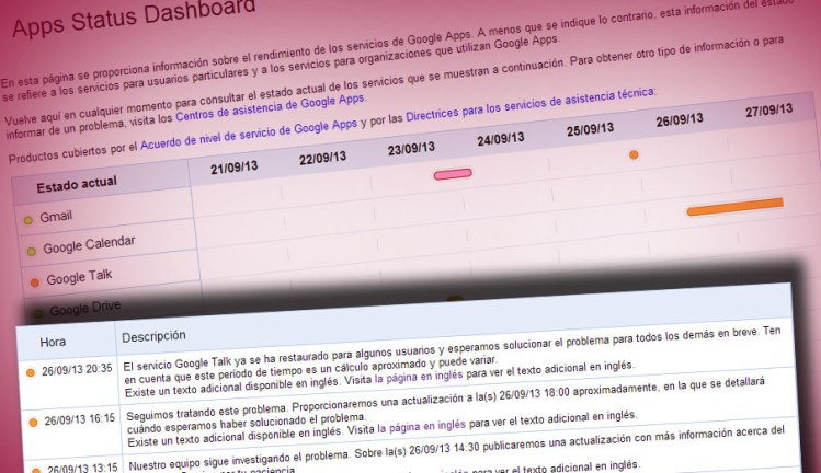 google talk incidencia